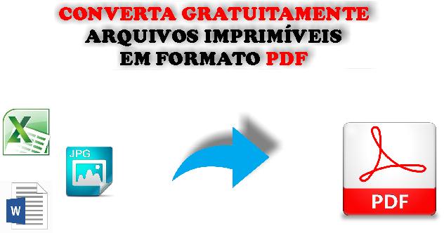 Converta gratuitamente qualquer arquivo para o formato PDF