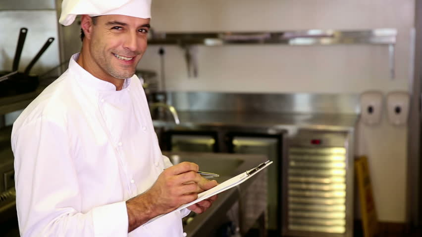 Chef escrevendo